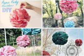 Easy DIY Pretty Flower Poms at TheFrugalGirls.com