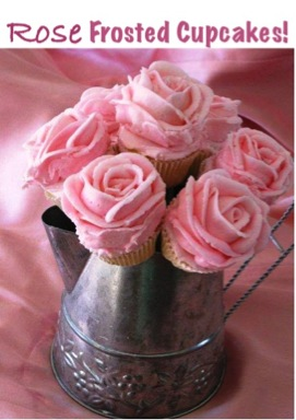 DIY Rose Frosted Cupcakes