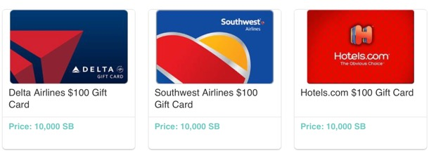 Free Travel Gift Cards from Swagbucks at TheFrugalGirls.com