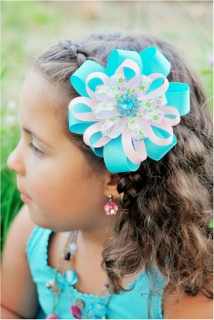 Ribbon Flower-Hair-Bows