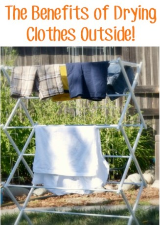 The Benefits of Drying Clothes Outside