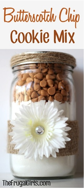 Butterscotch Chip Cookie Mix in a Jar