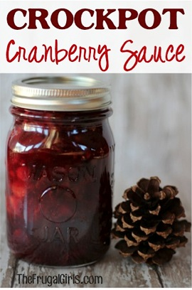 Crockpot Cranberry Sauce in a Jar