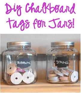 DIY Chalkboard Tags for Jars