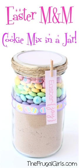 Easter M&M Cookie Mix in a Jar