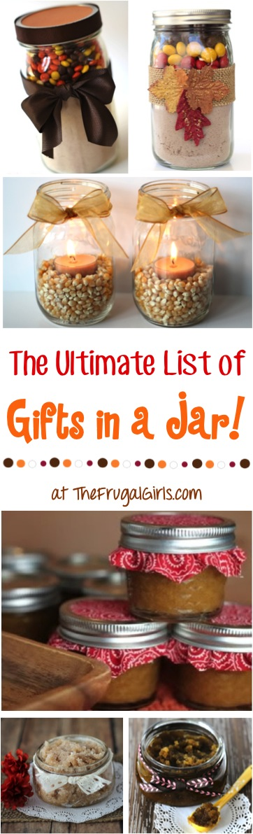 Gifts in a Jar Recipes from TheFrugalGirls.com