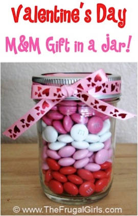 Valentines Day M&M Gift in a Jar
