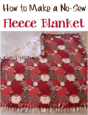 How to Make a New-Sew Fleece Blanket at TheFrugalGirls.com