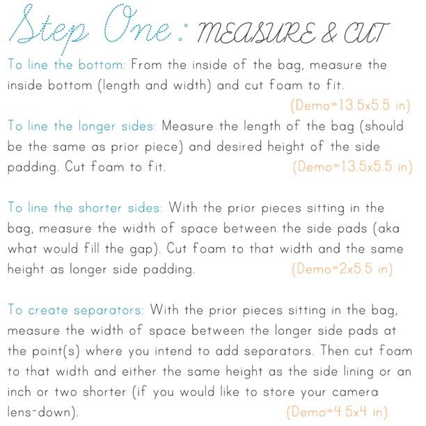 DIY Camera Bag Instructions