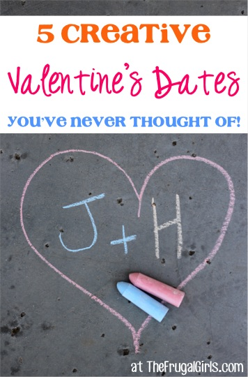 5 Creative Valentine's Date Ideas You've Never Thought Of - at TheFrugalGirls.com