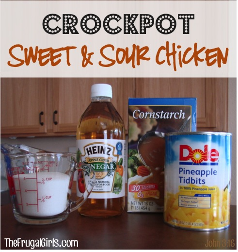 Crockpot Sweet and Sour Chicken Recipe at TheFrugalGirls.com