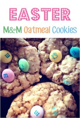 Easter M&M Oatmeal Cookies Recipe
