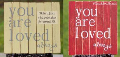 Faux Pallet Board Signs