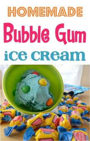 Homemade Bubble Gum Ice Cream Recipe