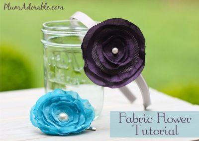 Fabric Flower Tutorials