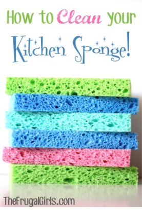 How to Clean Your Kitchen Sponge