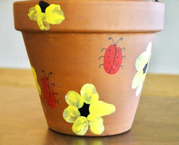 DIY Fingerprint Flower Pot Craft