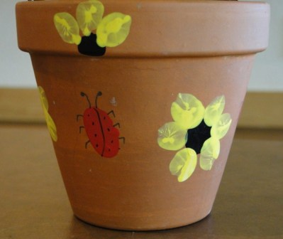 Fingerprint Flower Pot
