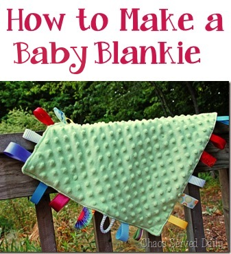 How to Make a Baby Blankie Tutorial