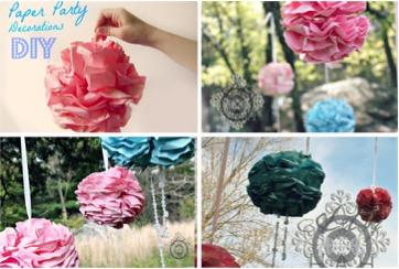 Pretty DIY Flower Poms