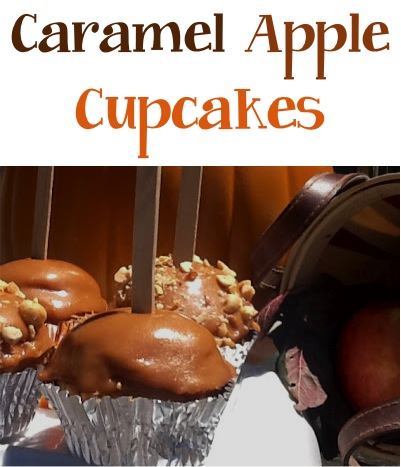 Caramel Apple Cupcakes Recipe at TheFrugalGirls.com