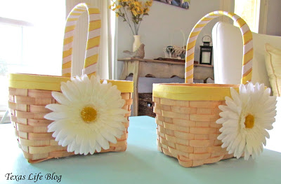DIY Flower Girl Baskets at TheFrugalGirls.com