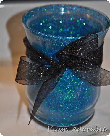 DIY Glitter Vase - Blue