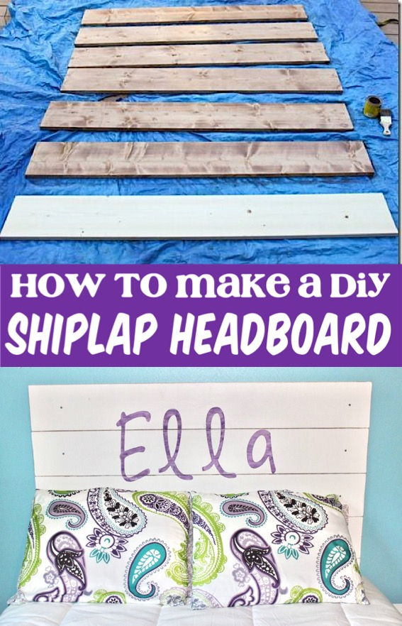 Farmhouse Bedroom Decor Ideas DIY Shiplap Headboard