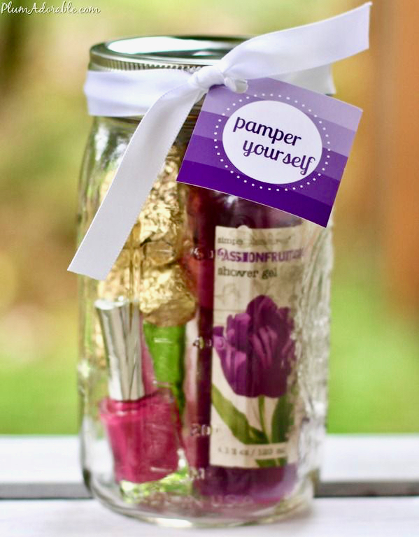 Pamper Yourself Gifts in a Jar Gift