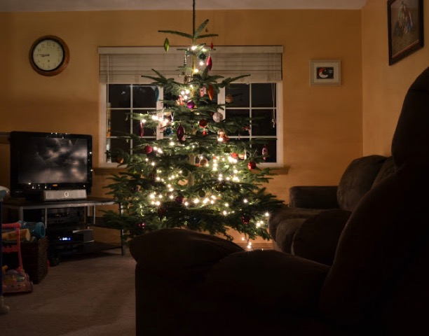 Capture Glow of Christmas Lights