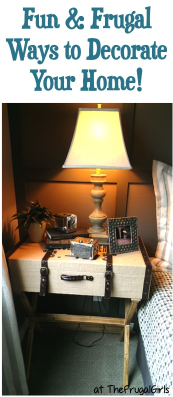 Creative Ideas for Decorating Your Home on a Budget at TheFrugalGirls.com