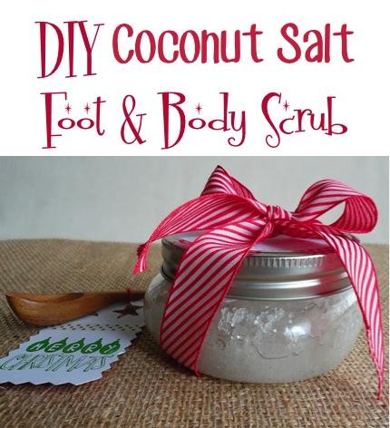 DIY Coconut Oil Salt Scrub