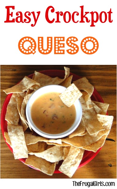 Easy Crockpot Queso Recipe from TheFrugalGirls.com