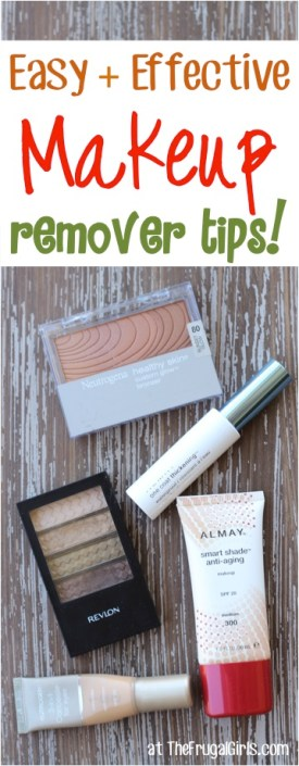 Easy and Effective Makeup Remover Tips from TheFrugalGirls.com