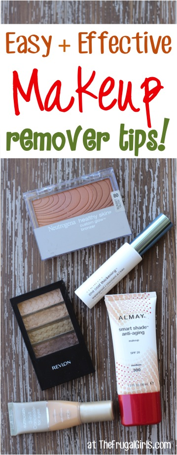 Easy and Creative Makeup Remover Tips from TheFrugalGirls.com