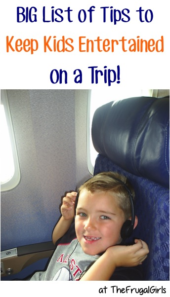 Ways to Entertain Kids on a Trip at TheFrugalGirls.com