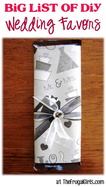 BIG List of DIY Wedding Favors at TheFrugalGirls.com