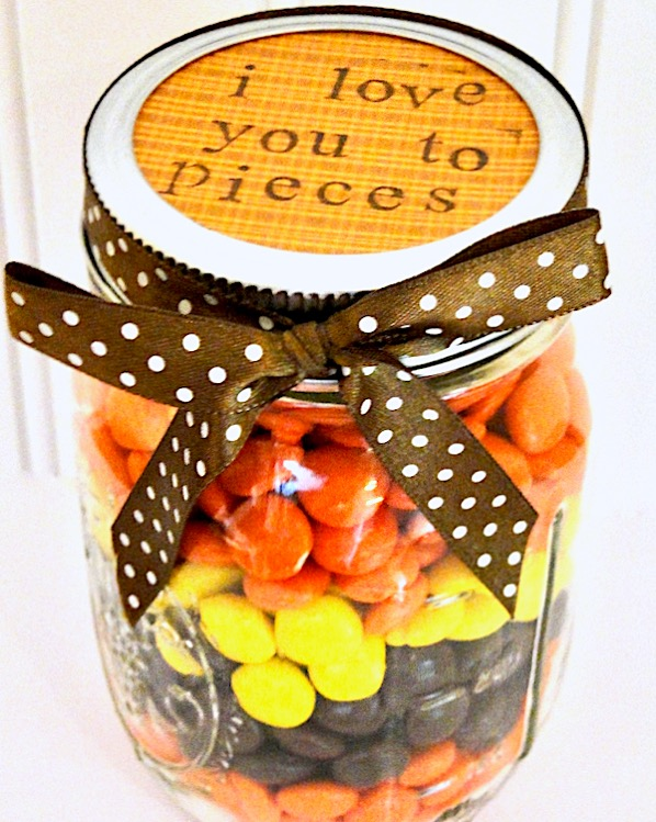 I Love You To Pieces Gift In A Jar Idea The Frugal Girls