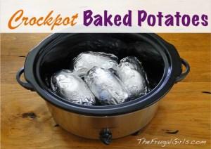 Crockpot Baked-Potatoes