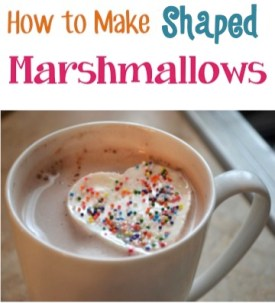 How to Create Your Own Shaped Marshmallows