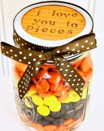 I Love You to Pieces Gift in a Jar Craft