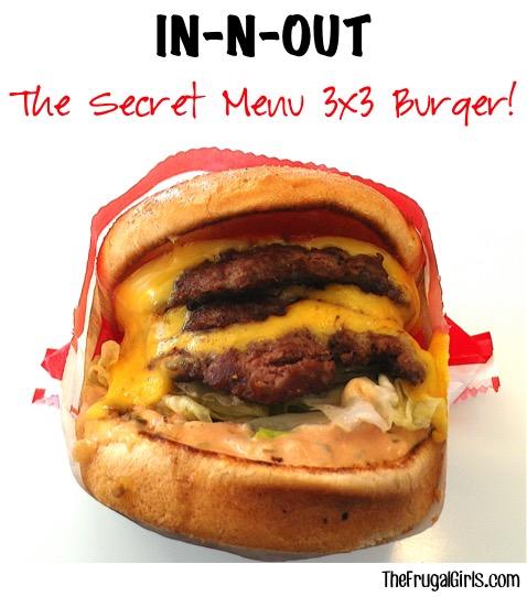 In-N-Out Secret Menu 3x3 Burger