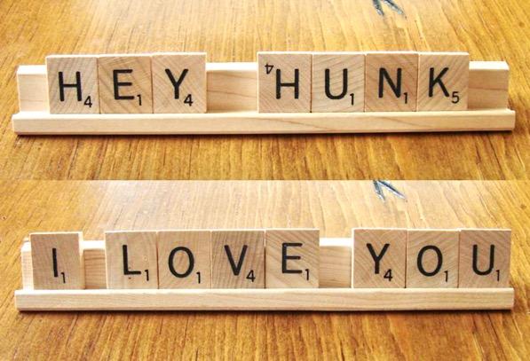 Scrabble Love Note