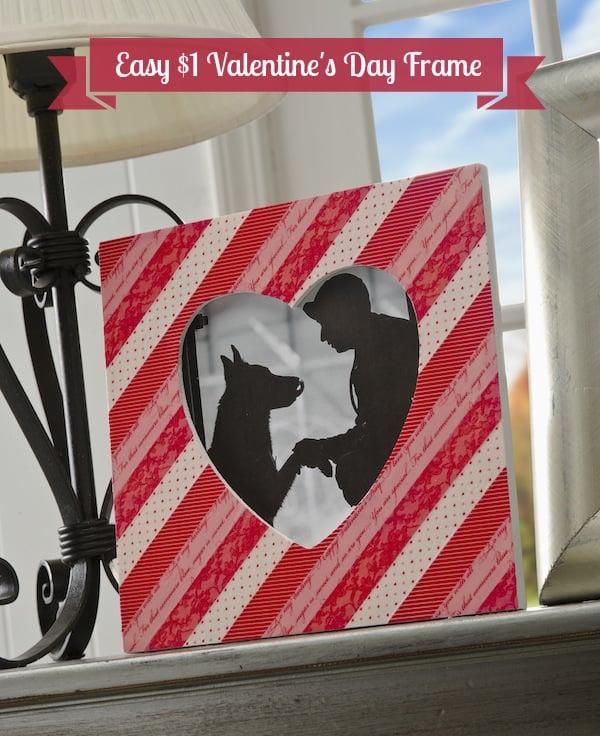 Easy Washi Tape Valentine's Day Frame