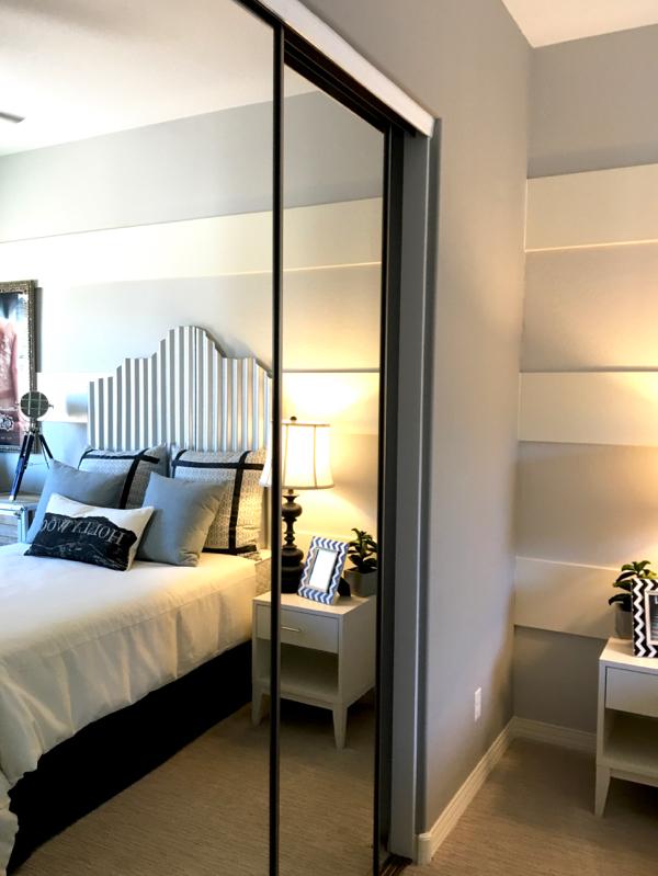 Make Bedroom Feel Bigger with Mirrored Closet Doors