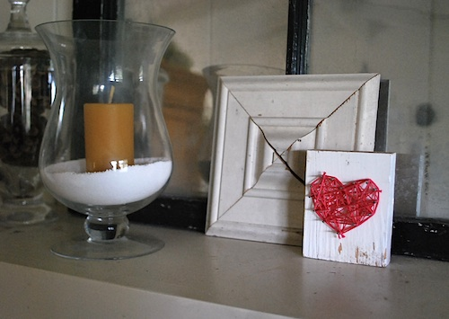 Nail-and-floss-heart-on-mantel