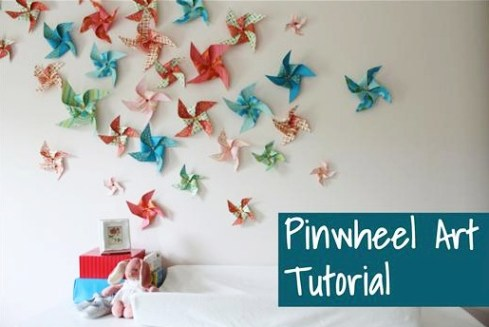 DIY Pinwheels Tutorial at TheFrugalGirls.com