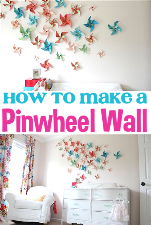 Pinwheels Paper Craft DIY Decoration for Kids, Baby Nurseries, or Birthday or Bridal Shower Walls