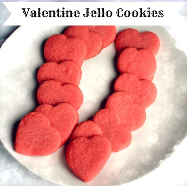 Valentine Jello Cookies Recipe