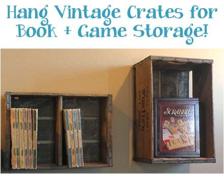 Vintage Wooden Crates Storage Solution at TheFrugalGirls.com